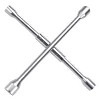Ключ баллонный крестовой 17,19,21,22мм складной TOPTUL AEAQ2214