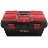 Ящик для инструмента 4 секции (пластик) 556x278x270мм TOPTUL TBAE0401