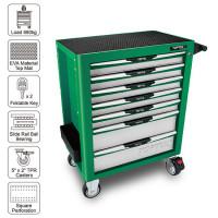 Тележка для инструмента (Pro-Plus) 7 секций (зеленая) TOPTUL TCAM0701