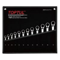 Набор ключей комбинированных с трещоткой реверсивных 8-19мм в сумке 12ед. TOPTUL GPAQ1203