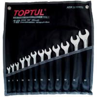 """Набор ключей комбинированных 12 шт. 6-22мм """"Hi-Performance"""" TOPTUL GPAX1202"""