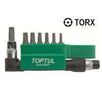 """Набор бит 1/4"""" TORX T10H-T40H + Гобр.перех. 8ед. TOPTUL GAAL0801"""